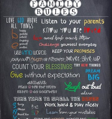 Family Rules on Your Wall