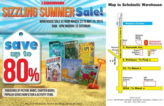 Scholastic Summer Warehouse Sale 2015