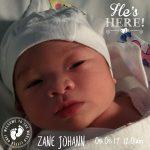 Meet our newborn baby, Zane!